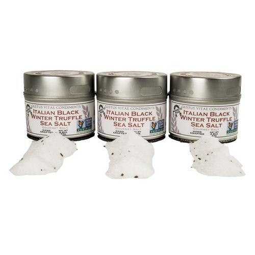 Italian Black Winter Truffle Salt Set | Set of 3