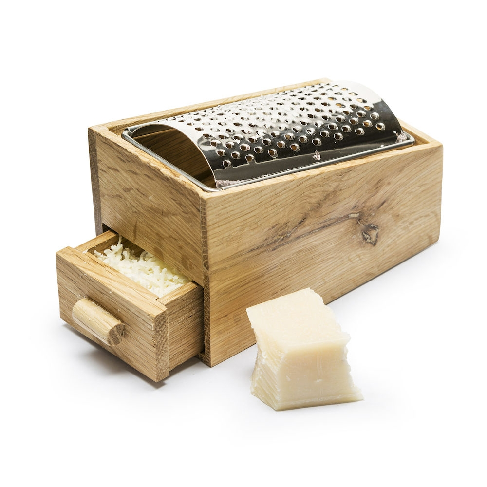 Oak Cheese Grater With Collection Drawer | Sagaform