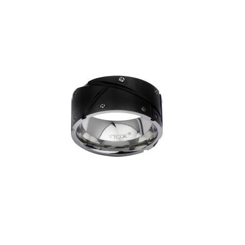 Men's Black IP with Screw Head Ring.   Inox Jewelry