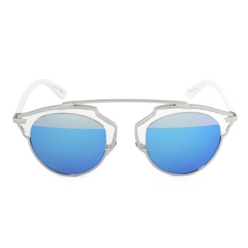 Dior I187R Sunglasses | Gunmetal/White Frame