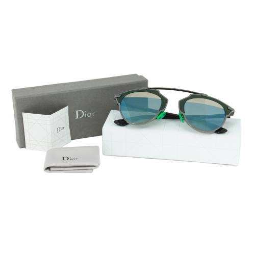 Dior I1A82 Sunglasses | Gunmetal/Green Frame