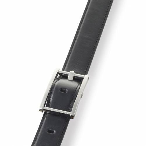 Black Statesman Leather Belt | Dalvey