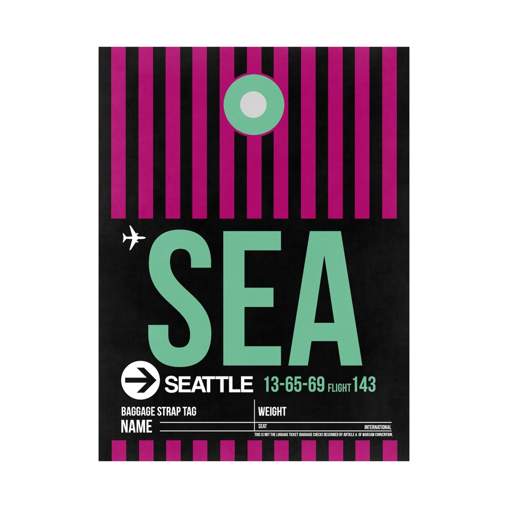 NaxArt | SEA Seattle Poster