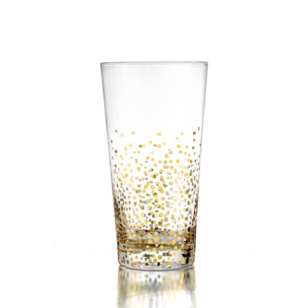 Gold Luster Highball Set of 4 | Jay Companies