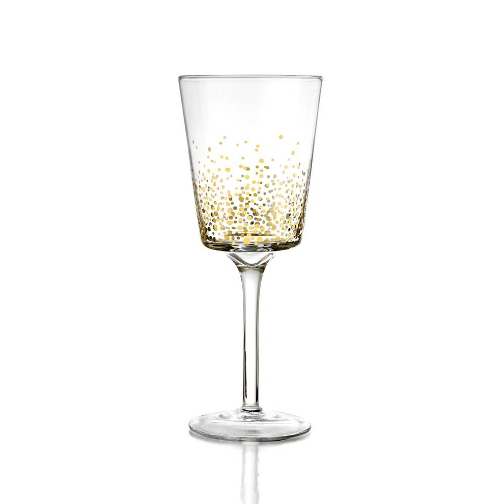 Gold Luster Wine Set of 4 | Jay Companies