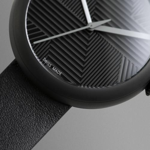 Charcoal/Black Hach   Objest Watches
