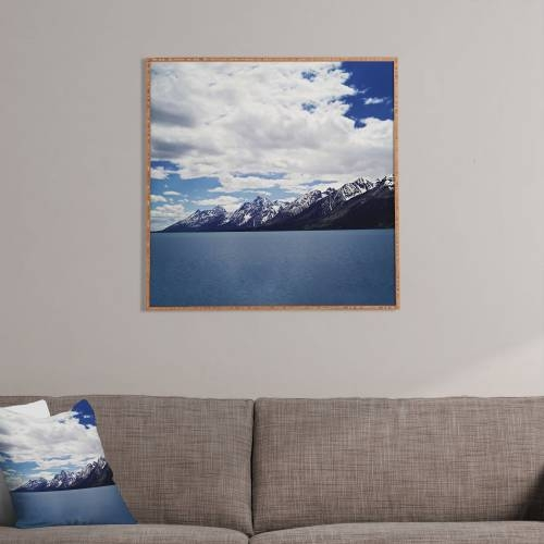 Leah Flores Grand Tetons X Colter Bay Framed    Deny Designs