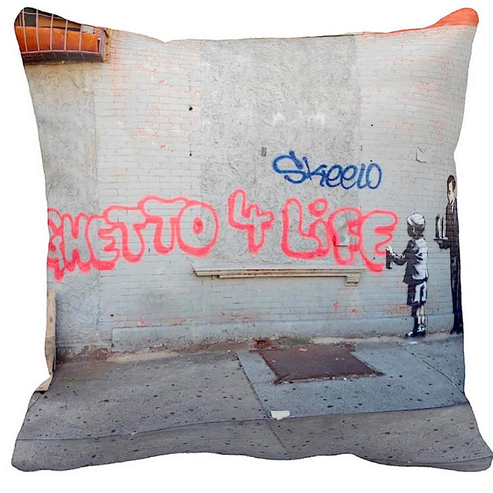Ghetto 4 Life   Banksy Art   iLeesh