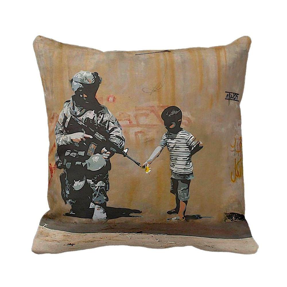Soldier Flower Gun Boy | Banksy Art | iLeesh