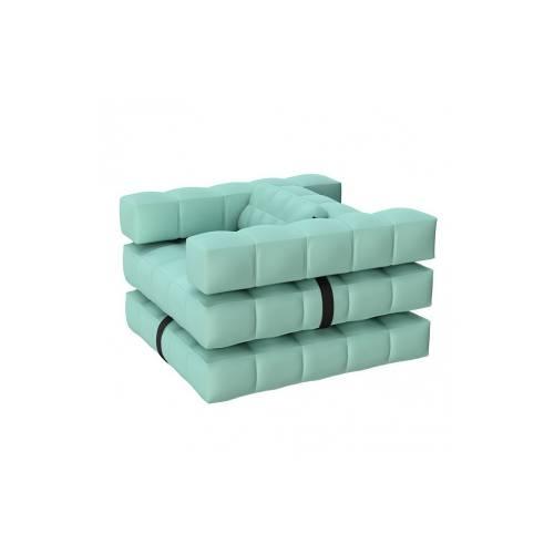 Armchair / Sun Lounger Set   Aquamarine Green   Pigro Felice