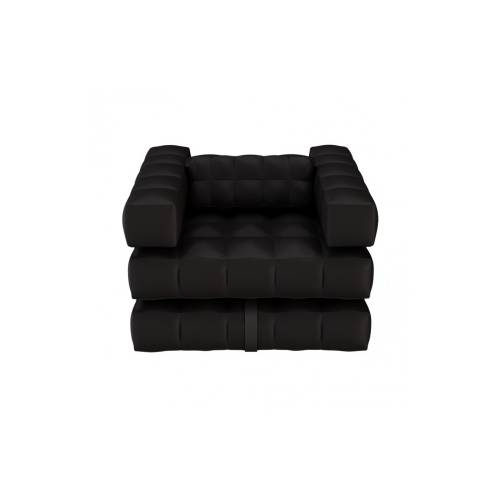Armchair / Single Lounger Set | Matte Black | Pigro Felice