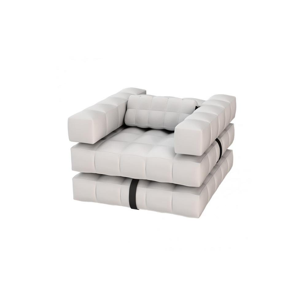 Armchair / Single Lounger Set | Matte White | Pigro Felice