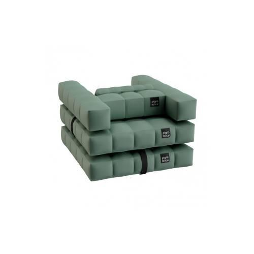 Armchair / Single Lounger Set   Olive Green   Pigro Felice