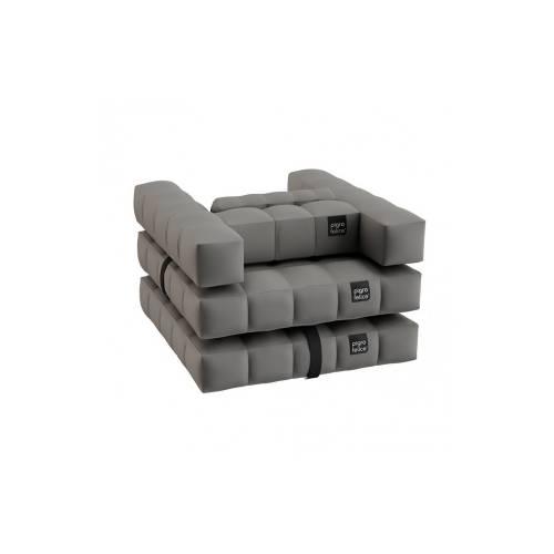 Armchair / Single Lounger Set | Stone Gray | Pigro Felice