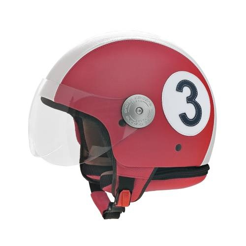 Red Leather Helmet |