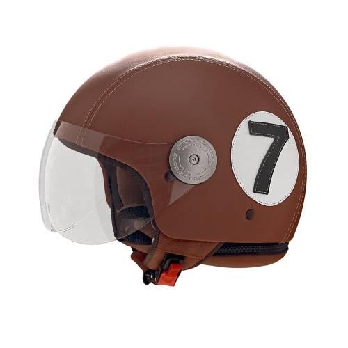 Brown Leather Helmet |