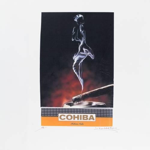751-CCP00100   Cohiba Signed Art
