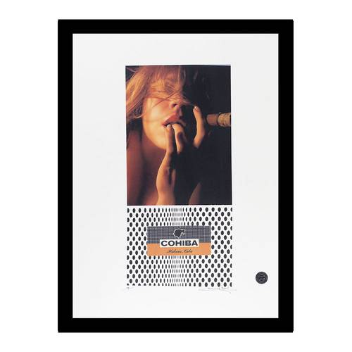 776-CCP00125 | woman erotically smoking | Cohiba Signed Art