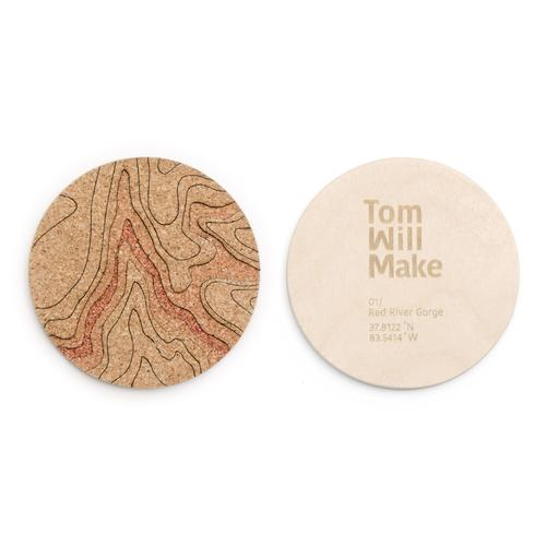 Topo Coasters | Set of 4 | Red River Gorge | Tom Will Make