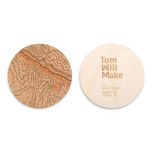 Topo Coasters | Set of 4 | Grand Canyon | Tom Will Make
