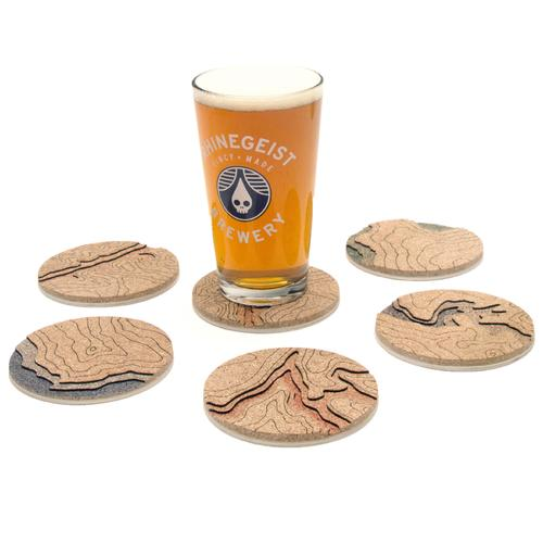 Topo Coasters | Set of 5 | Mixed Places