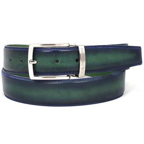 Men's Leather Belt Dual Tone | Blue & Green