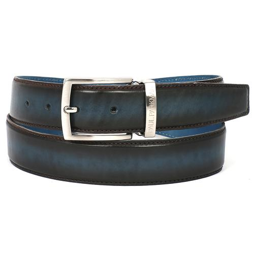 Men's Leather Belt Dual Tone | Brown & Blue