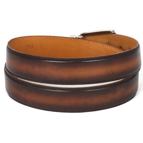 Men's Leather Belt   Brown & Camel