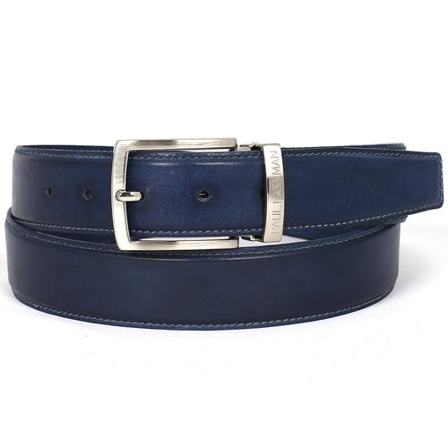 Men's Leather Belt | Navy