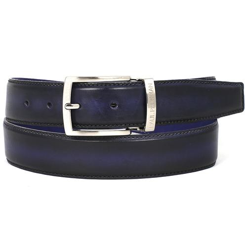 Men's Leather Belt Dual Tone | Navy & Blue