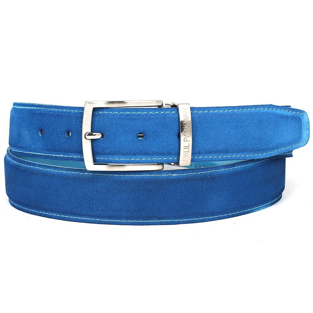 Men's Blue Suede Belt | Blue