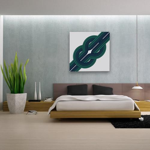 Knot // Green | MidcenturyArt