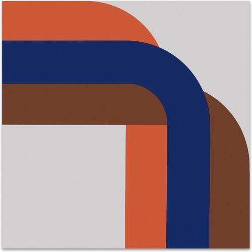 Right Angle // Blue Brown | MidcenturyArt