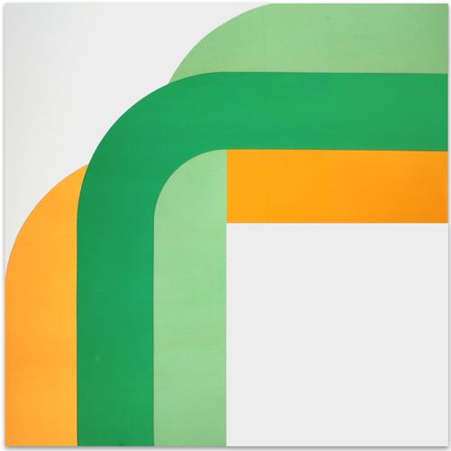 Right Angle //Green Yellow | MidcenturyArt