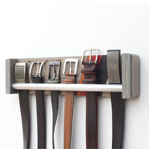 Belt Rack | Engraved Buckle+Up Race | Wood Butcher Designs