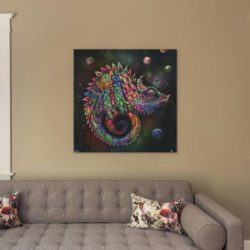 Rainbow Herbert by Black Ink Art Canvas Print