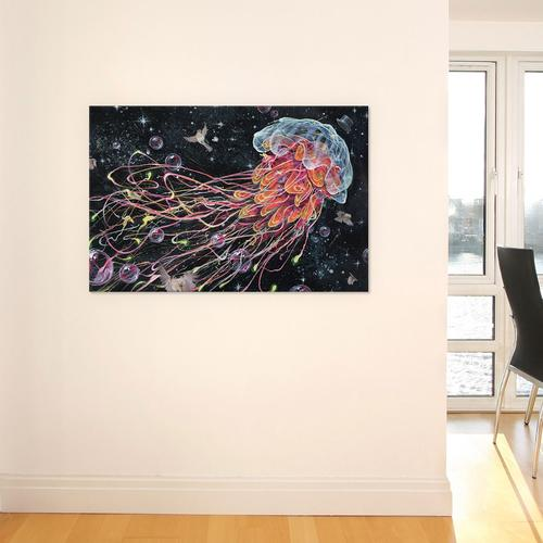 Gentle Jelly by Black Ink Art Canvas Print