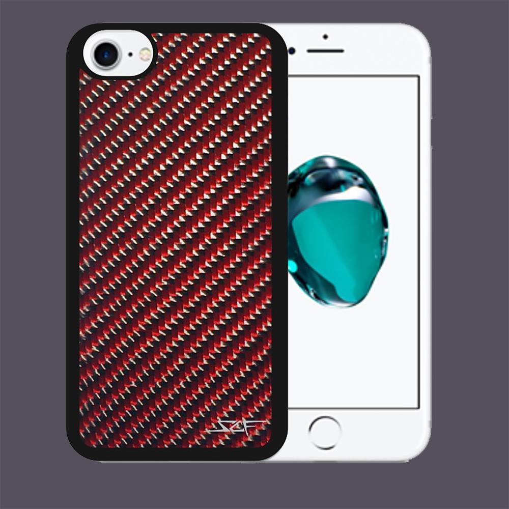 Carbon Fiber iPhone 7 Case | Red | Simply Carbon Fiber