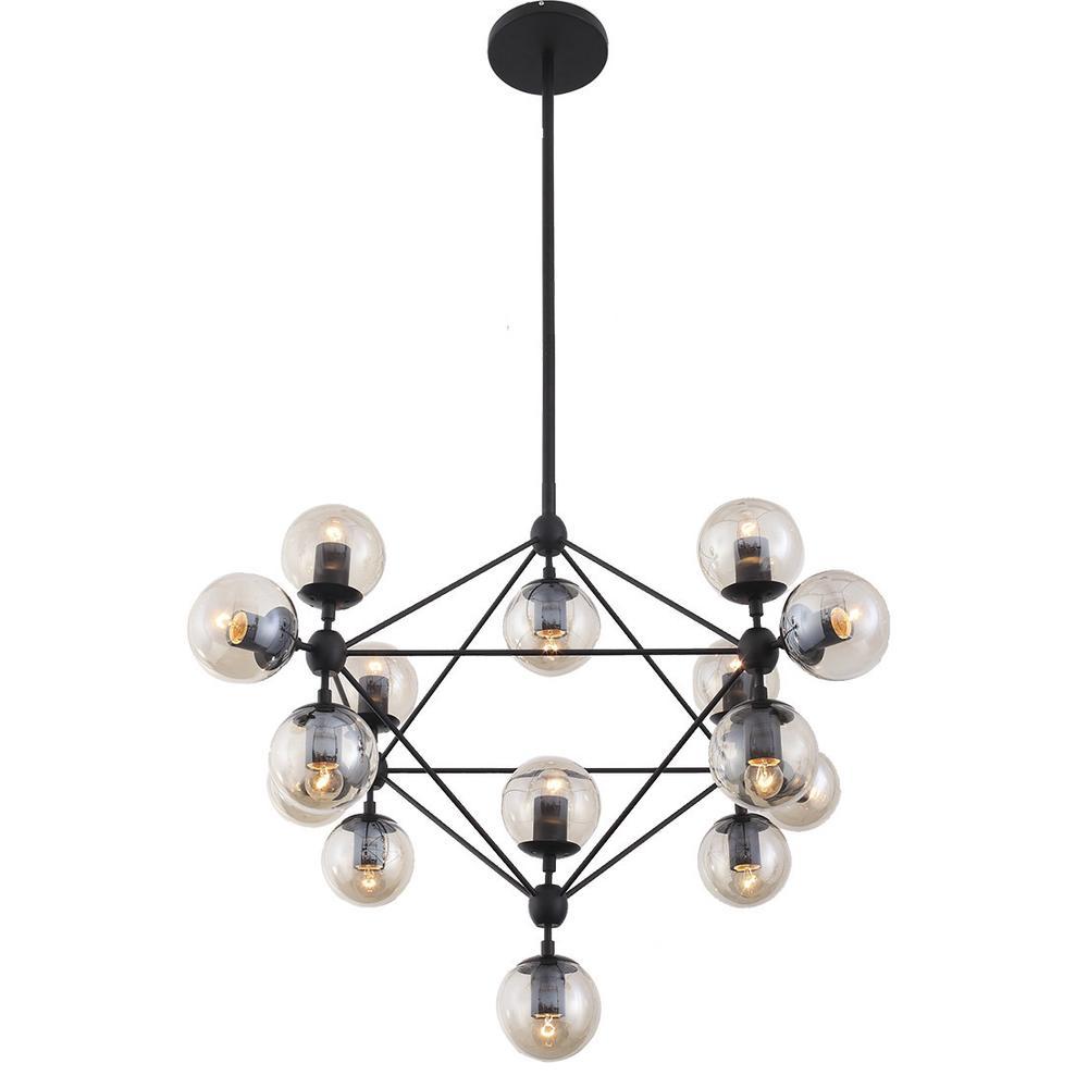 Nisse Chandelier   Globe Bulbs   NYE Koncept Modern Lighting