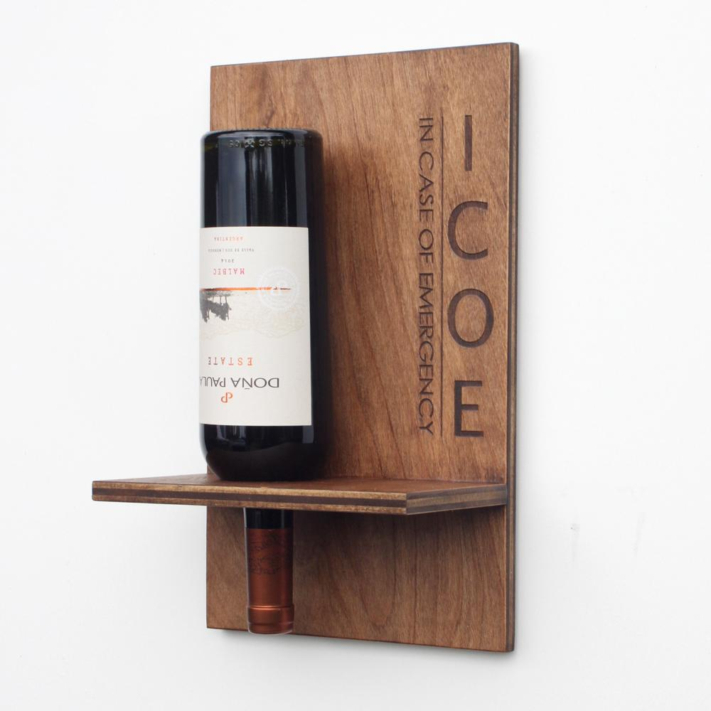 Wall-mounted Wine Bottle Holder | Wood Butcher Designs