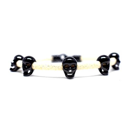 Bracelet   Multi Skull   White/Black