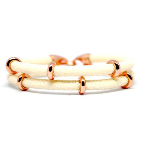 Bracelet | 2x Sting | White/Rose Gold