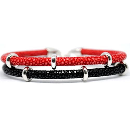 Bracelet | 2x Sting | Red/Black