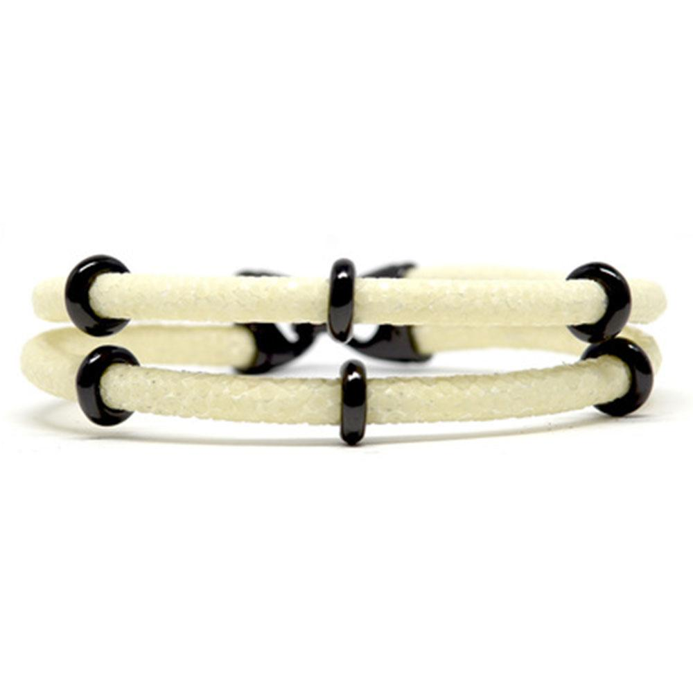 Double Stingray Bracelet | White & Black | Double Bone