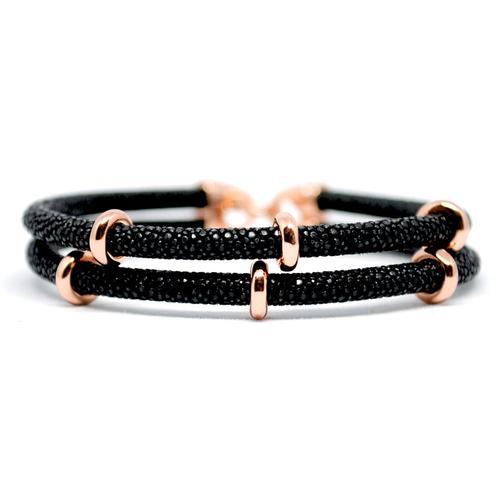 Bracelet | 2x Sting | Black/Rose Gold