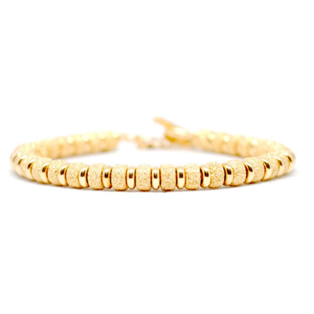 Multi Beaded Bracelet | Gold Beads | Double Bone