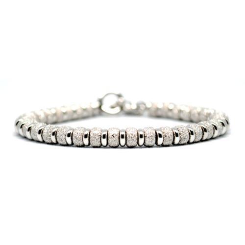 Bracelet | Multi Beads | White Gold