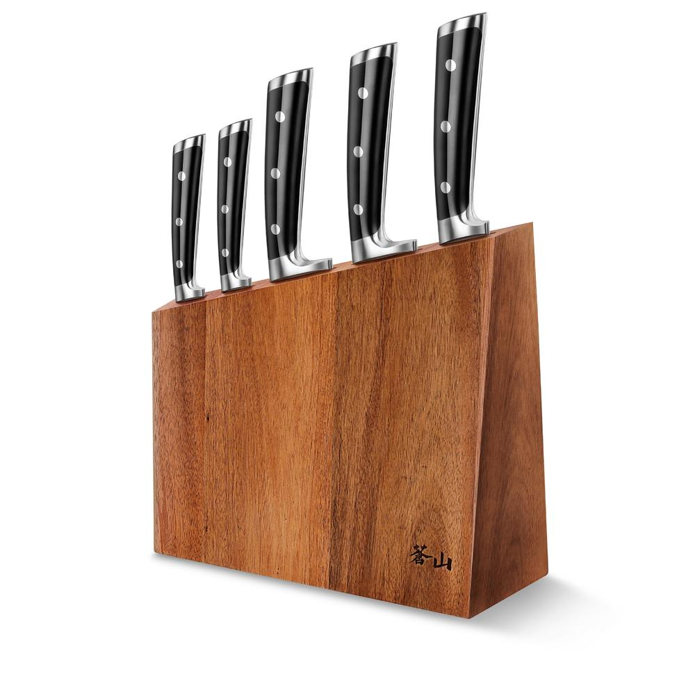 S Series   6-Piece Set   Acacia Wood Block   Cangshan