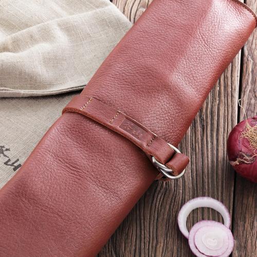 W Series | 4-Piece Knife Set | Teak / Leather | Cangshan
