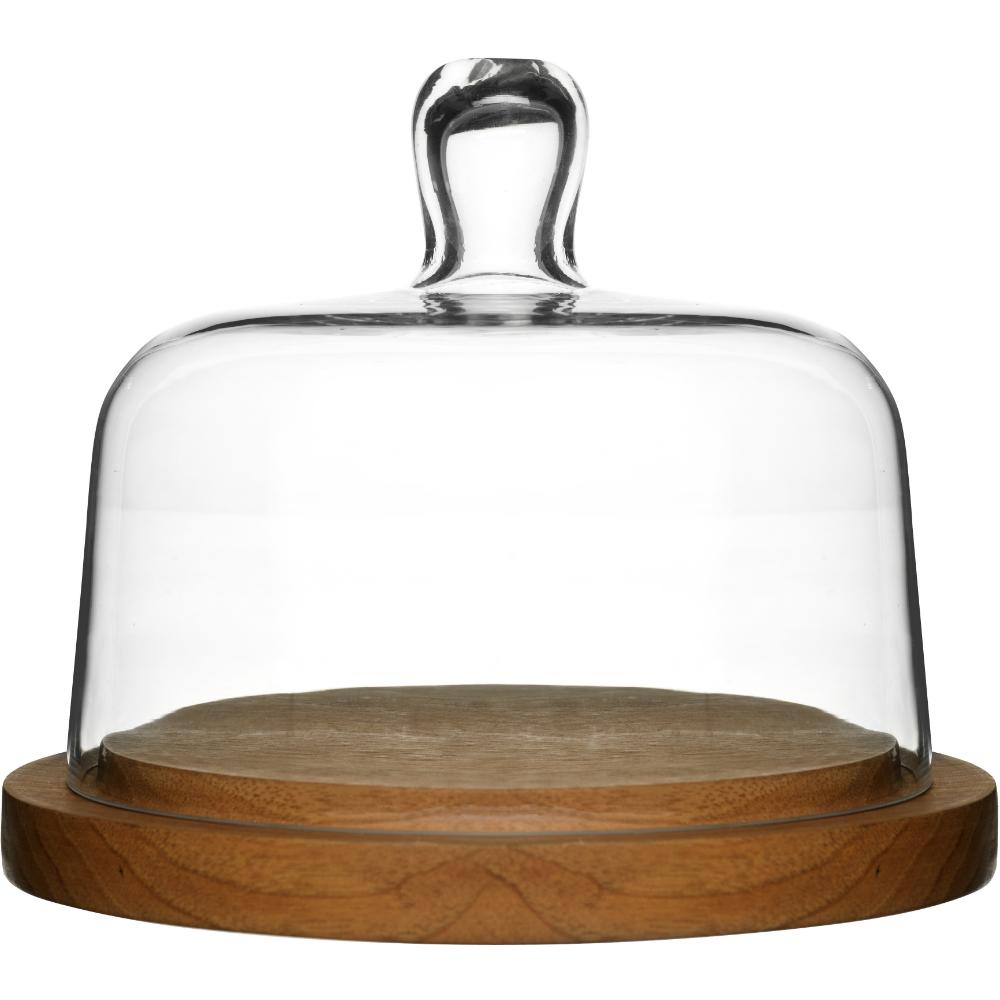 Glass Cheese Dome With Oak Base | Sagaform